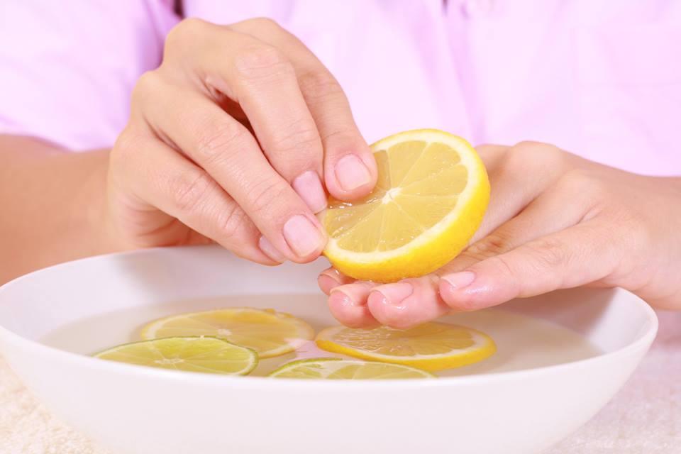 Маска для ногтей с лимонами